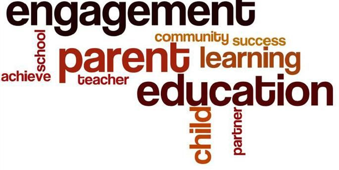 word cloud of family engagement associations