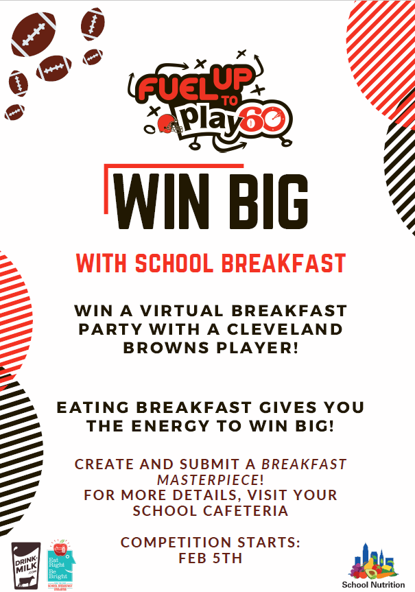 Win a virtual breakfast party with a Cleveland Browns player!