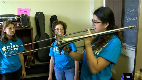 Music students get instruments back in action