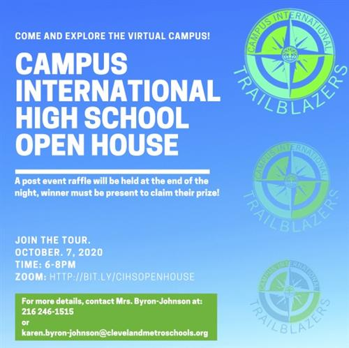 CIHS Open House October 7, 2020 6-8pm
