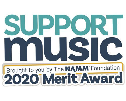 CIHS Honored by NAMM Foundation with Support Music Merit Award!