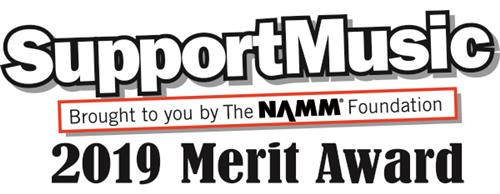 2019 SupportMusic Merit Award Logo