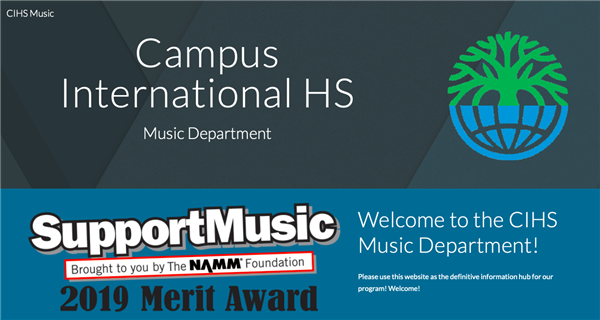 CIHS Music Has a New Website!