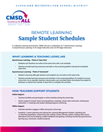Sample Student Schedules
