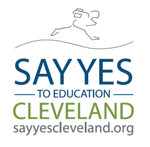 Running person with Say Yes logo