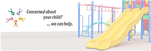 "Slide with Logo and the words ""Concerned about your Child?...we can help."