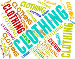 Picture of the word clothing