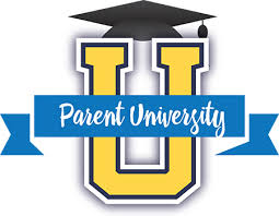 "Image of a U with a graduation cap and the words ""Parent University"""