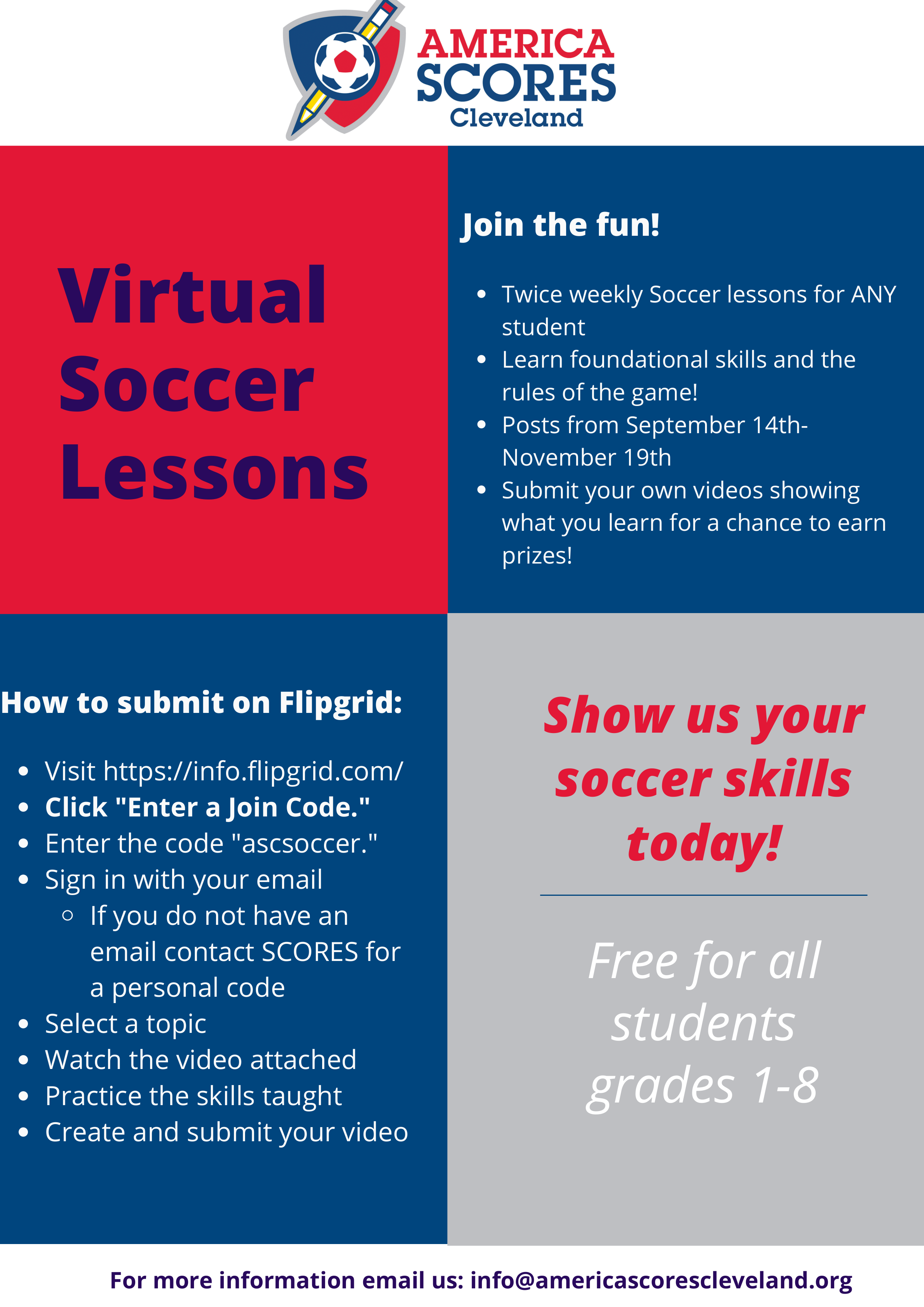 America SCORES Virtual Soccer Lessons