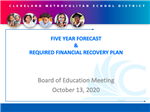 Financial Recovery Plan