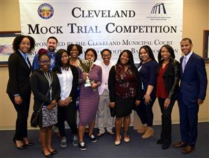 Cleveland Students at the Bar Association of our first place win in 2018.