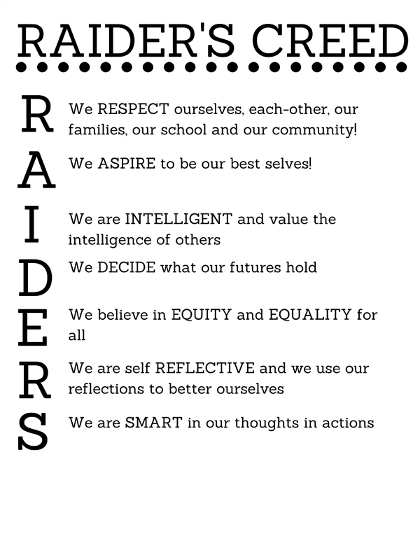 RAIDERS CREED