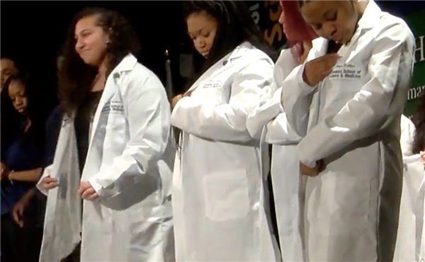 CSSM students earn their white coats