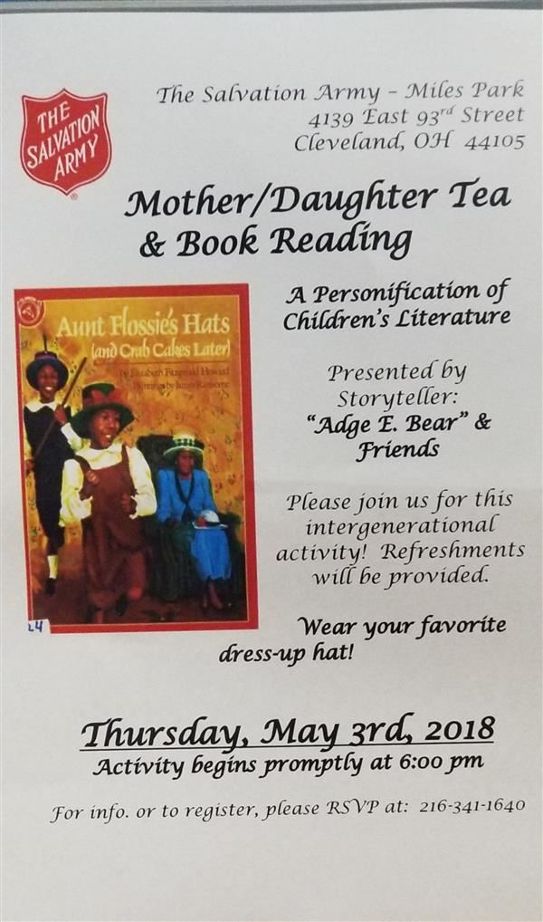 Mother/Daughter Tea & Book Reading