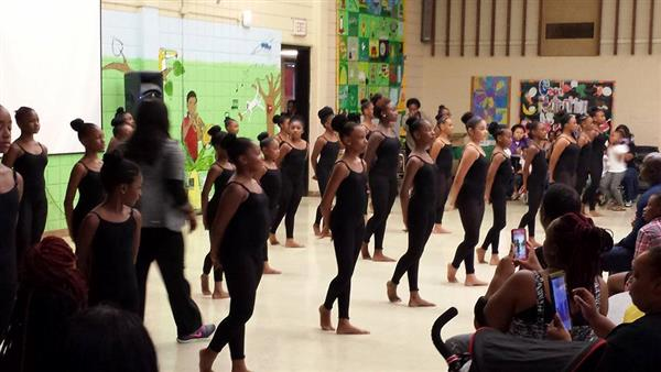 Dike's Dance majors perform at Open House.