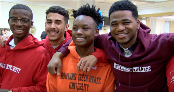 "Cleveland seniors, families celebrate ""College Signing Day"""