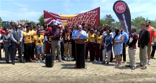 Cleveland Browns, CMSD break ground at new John Adams athletic field