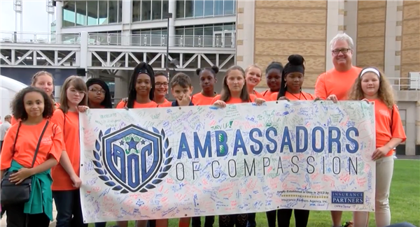 "Cleveland students serve as ""Ambassadors of Compassion"" to help the community"