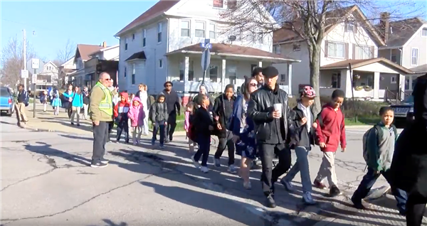 Mayor Jackson, Cleveland Police help elementary students walk to school safely