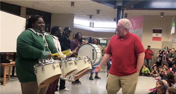 "Former students plan heartwarming surprise that leaves Cleveland principal ""speechless"""