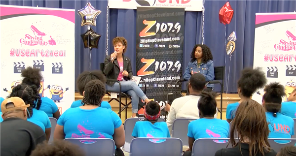Actress Grace Byers brings inspiring message to Cleveland students