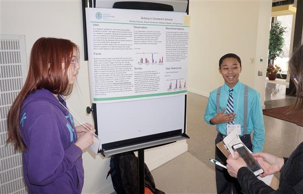 Campus International High School students present research at CSU youth symposium