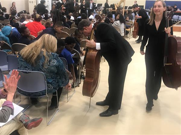 Cleveland Orchestra performs for, with Mound students (Photo gallery)