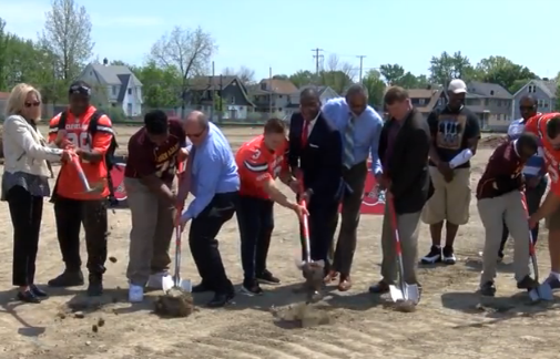 Browns break ground for John Adams field (video)