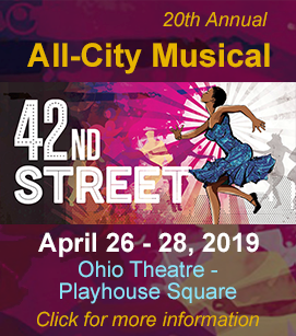 All-City Musical 42nd Street April 26-28, click for more information