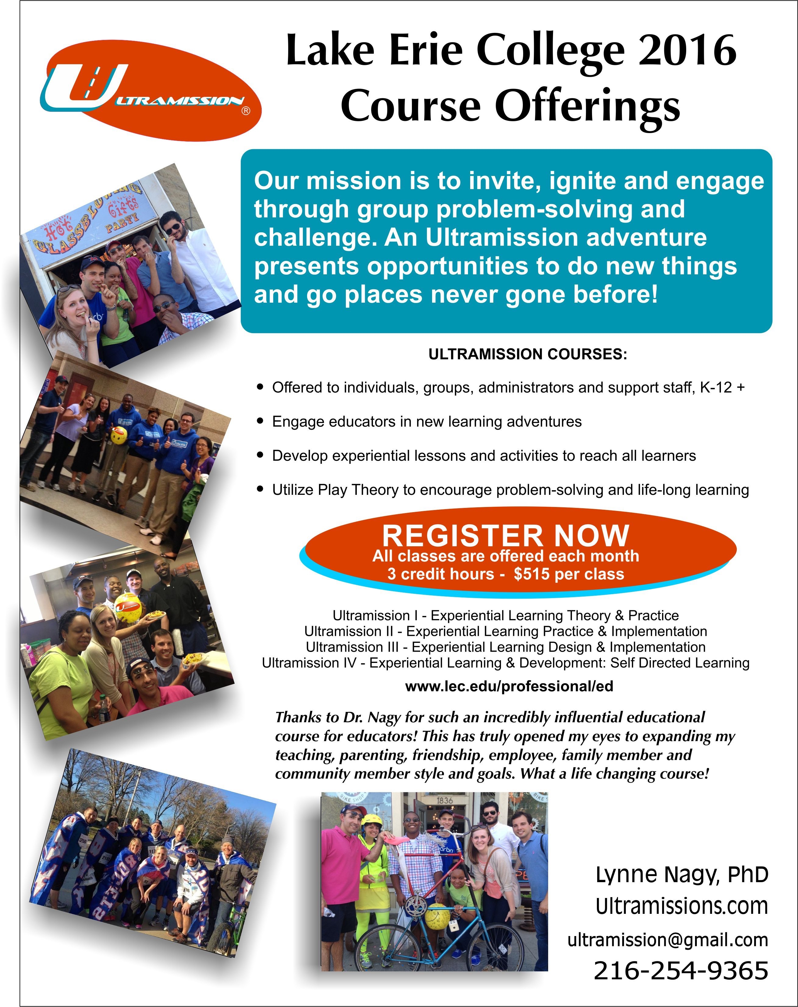 Lake Erie College 2016 Course Offerings