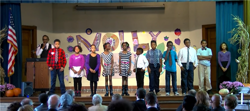 Students performing at Molly Day 2015