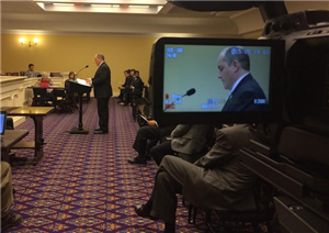 CMSD CEO Eric Gordon testifying before an Ohio House committee in favor of Ohio Education Standards.
