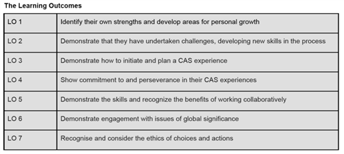 CAS Learning Outcomes