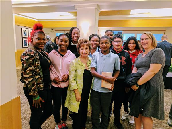 CIHS students meet, hear from Chilean writer, Isabel Allende