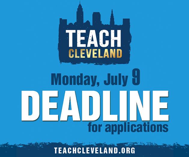 Teach Cleveland / TeachCLE 2 0 1 Apply