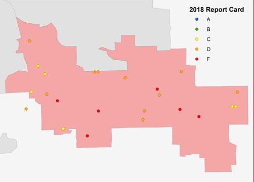 Map showing Southeast region